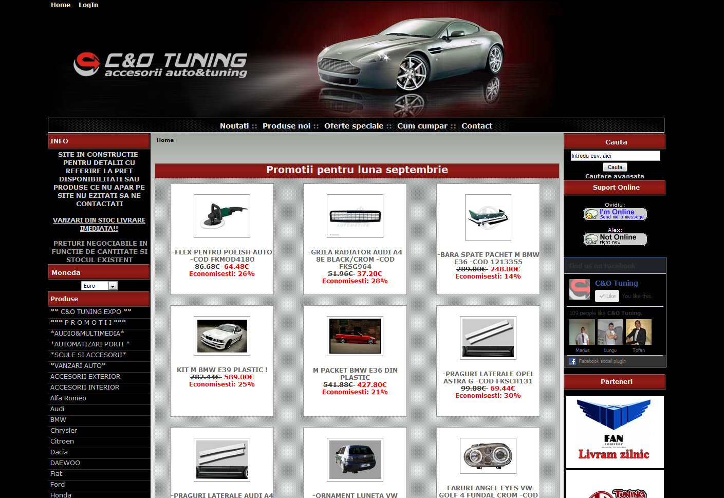 www.cotuning.ro Webdesign magazin tunning auto on-line