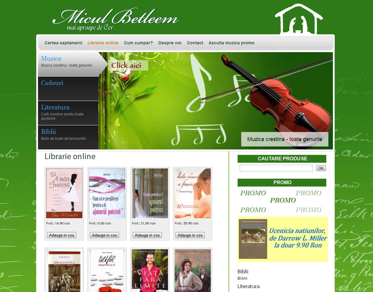 www.miculbetleem.ro Webdesign magazin on-line Biblioteca On-line Suceava