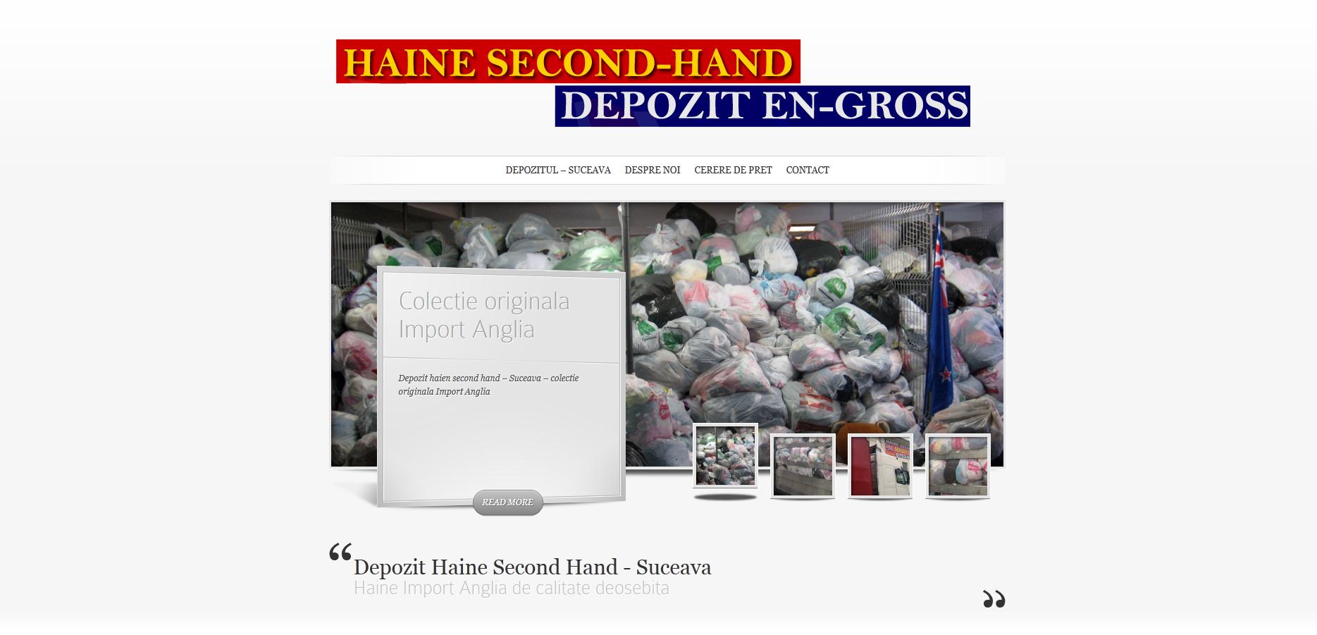 Depozit Haine Second Hand - Suceava Webdesign site-uri Suceava