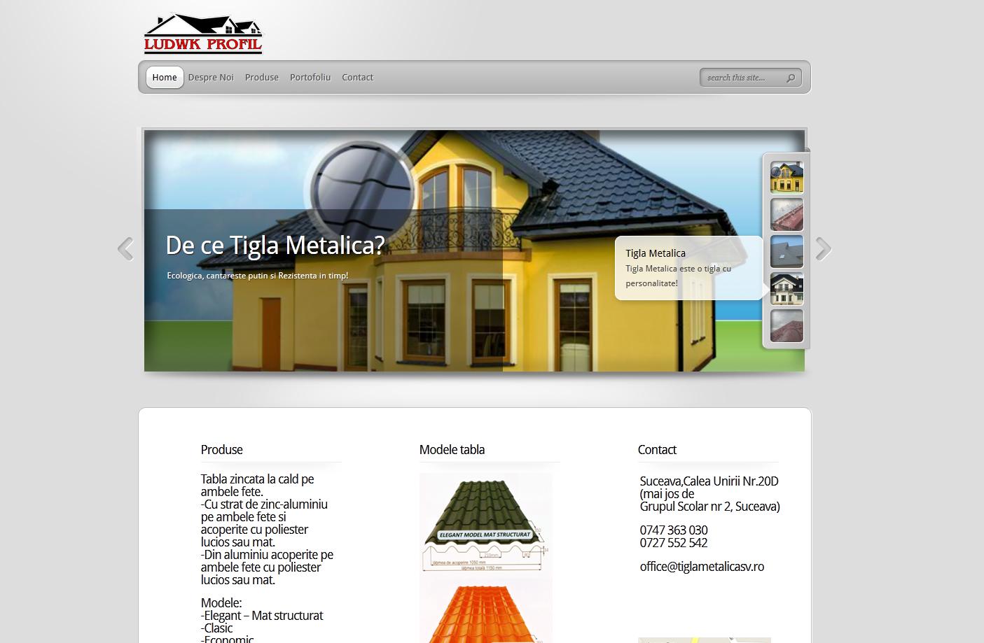 www.tiglametalica-sv.ro Webdeisgn site Suceava tigla metalica